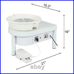 110V 250W Electric Pottery Wheel Ceramic Machine 25CM Work Clay Art Craft