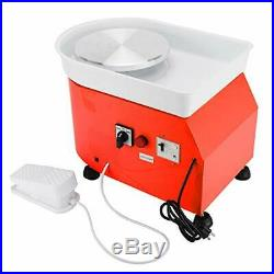 110V 25CM Electric Pottery Wheel Ceramic Machine 350W For Work Clay Art Craft