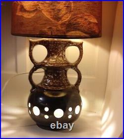 11 1/2 Guitar Vase 70s Modern West German Roth Fat Lava Vase