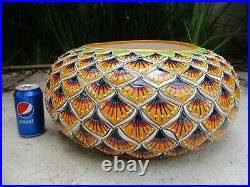 18 XL PLANTER large colorful mexican talavera ceramic handpainted folk art