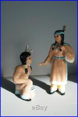 1940's Ceramic Arts Studio Native American Indian Art Pottery Ceramics Figurines