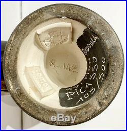 1969 Rare Original Pablo Picasso Ceramic Wood Owl Vase Madoura Pottery