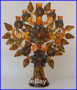 22 1/2 Mexican Folk Art Pottery Ceramic Arbol de Vida Tree of Life HUGE