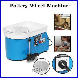 250W 110V Electric Pottery Wheel Ceramic Machine 25CM Work Clay Art Craft DIY