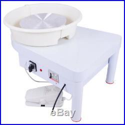 25CM 250W 110V Electric Pottery Wheel Machine Ceramic Work Clay Art Craft