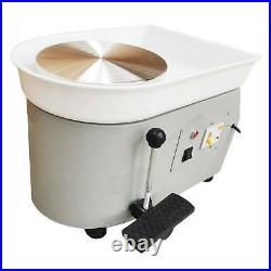 25CM 350W Electric Pottery Wheel Machine For Ceramic Work Clay Art Craft 110V