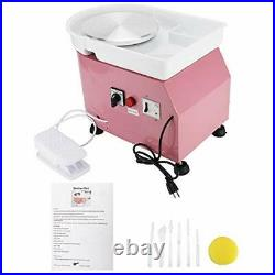 25CM 350W Electric Pottery Wheel Machine For Ceramic Work Clay Art Craft Pink US