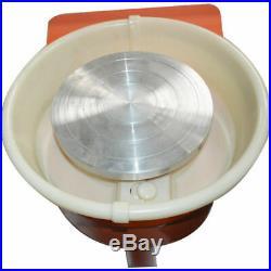 25CM/9.5IN Electric Pottery Wheel Machine Ceramic Work Clay Art Craft 110V USA