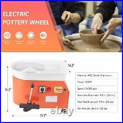 25CM Wheel Ceramic Machine Electric Pottery Work Clay Art Craft DIY