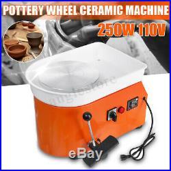 25cm 110V 250W Electric Pottery Wheel Machine Ceramic Work Clay Art DIY Craft
