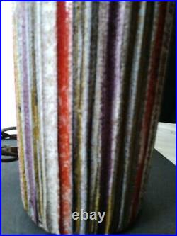28 Tall Purple Striped Bitossi Italy For Raymor Lamp Modern