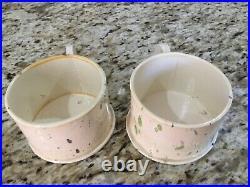 2 Vintage Peter Shire Echo Park Splatter Mugs Cups Pottery Ceramics Stamped
