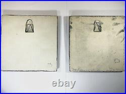 2x Lisa Larson Plum and Strawberry Wall Tile Plate Gustavsberg Vintage 1960
