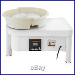 350W 25CM Electric Pottery Wheel Ceramic Machine Work Clay Art Craft DIY 110V