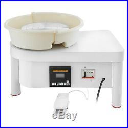 350W 28CM Electric Pottery Wheel Ceramic Machine Work Clay Art Craft DIY 110V