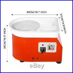 350W Electric Pottery Wheel Machine For Ceramic Work Clay Art Craft 110V US Fast
