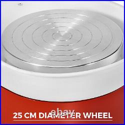 380W 110V Electric Pottery Wheel Ceramic Machine 25CM Work Clay Art Craft DIY AA