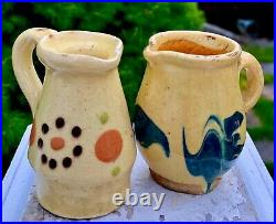 5 Sample French Antique Pot Confit Pottery Vessel Faience Ceramic Earthenware