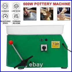 600W 25CM Electric Pottery Wheel Machine Ceramic Work Clay Art Craft Foot Peda