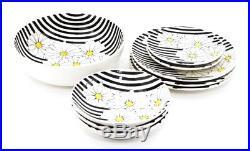 9 Pc Ernestine Salerno Italy Hand Painted Daisies Ceramic Art Pottery Majolica