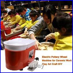 AC 220V 250W Electric Pottery Wheel Machine for Ceramic Work Clay Art Craft B