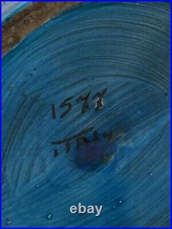 ALDO LONDI BITOSSI ITALY for RAYMOR BLUE Large VASE 16-1/2 Num. 1577 /1960s