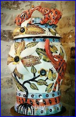ARDMORE CERAMICS Elephant Tureen with lid / art pottery / AFRICAN ART big pc