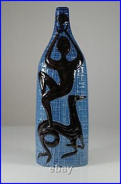 Alessio Tasca Mid Century Vintage Ceramic Lamp Base Bottle 1950's