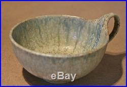 Alexandre Bigot Tea Cup + Saucer #4 Art Nouveau Antique French Ceramics