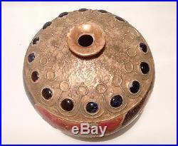 Amphora Austria Art Nouveau Handmade Signed Floral Poppy Gold Vase Pot Pottery