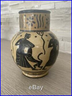 Andre Metthey(1871-1920) Vase En Gres, French Ceramic Art Nouveau Pottery