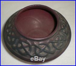 Antique 1919 Van Briggle Art Pottery Bowl Vase Geometric Pattern Signed