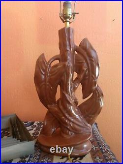 Antique 1930's Hawaiian Modern Art Pottery Ceramic Table Lamp