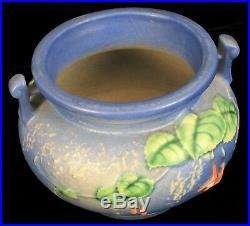 Antique 1938 Roseville Art Pottery Fuchsia Pattern 645 4 Handled Jardiniere Vase