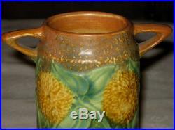 Antique American Roseville Sunflower Art Pottery Flower Garden Plant Urn Vase
