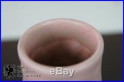 Antique Art Deco 1928 Rookwood 2111 Pottery Flower Vase Pink Floral Tulip Bell