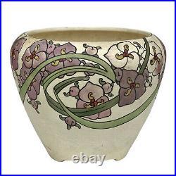 Antique Art Deco Roseville Persian Painted Floral Ceramic Jardiniere Planter
