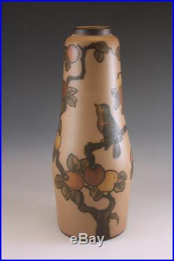 Antique Art Nouveau Hjorth Pottery Bornholm Denmark Lamp Base