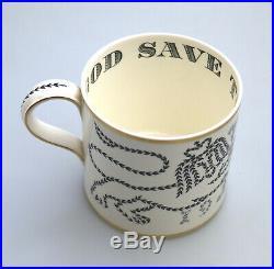 Antique British Art Pottery Wedgwood Richard Guyatt Coronation Tankard C. 1953