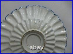 Antique Francfort or dutch Delft dish charger 17/18th Century
