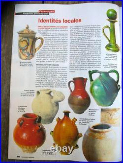 Antique French Pottery Pot Confit Ceramic Earthenware Folk Art Election Sale