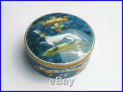 Antique French Pottery Ulysse Blois Ellen E Balon Hand Painted Ceramic Art Dish