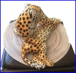 Antique Italian Cheetah Ceramic Figurine