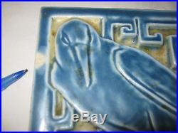 Antique Rookwood American Art Pottery Rook Raven Lattice Crow Tile Bird Trivet