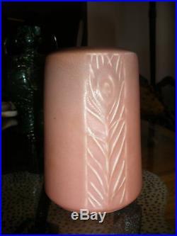 Antique Rookwood Peacock Feather Art Deco Vase 1927 #1902 Matte 5.5