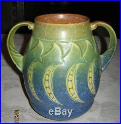 Antique Roseville Lg Falline Flower Garden Art Pottery Deco Vase Mission Crafts