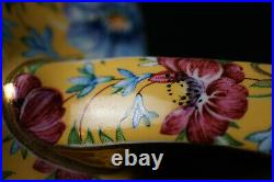 Art Deco James Sadler Stunning and Rare Sophie Chintz Floral Yellow 6 Cup Teapot