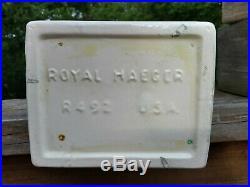 Art Deco MCM Royal Haeger R492 White Ceramic 15 Horse Vase Mid Century Modern