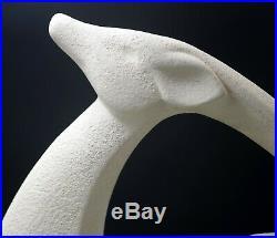Art Deco MCM Royal Haeger White 21 Gazelle Antelope Huge Sculpture Textured