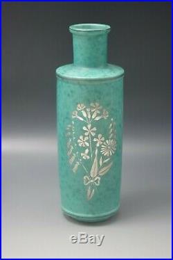 Art Deco Modern Gustavsberg Argenta Wilhelm Kage 8 Vase Botanical
